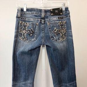 Miss Me Skinny Cross Bling Pocket Jeans